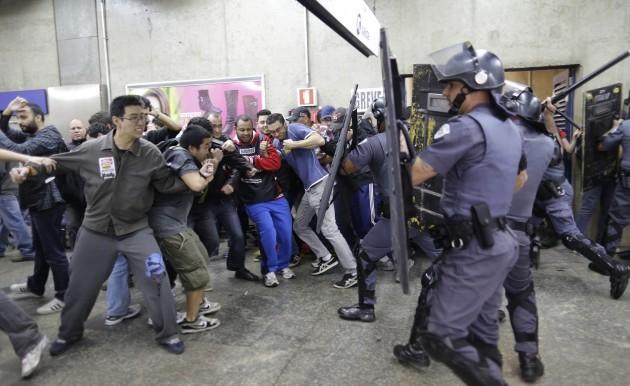 APTOPIX Brazil WCup Transport Strike