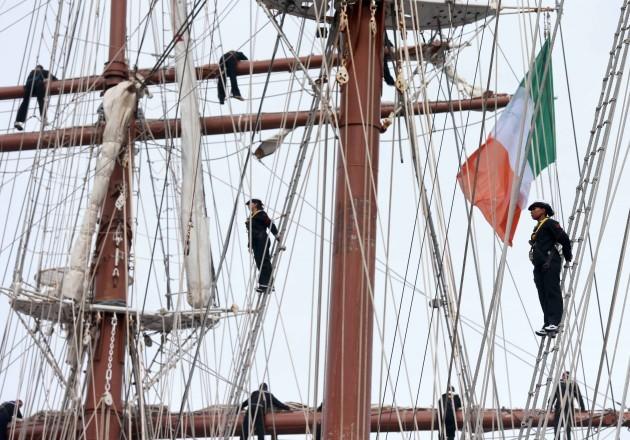 Juan Sebastian de Elcano docks in Dubl