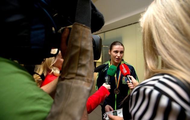 Katie Taylor is interviewed