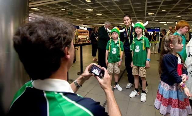 Katie Taylor poses for a photograph