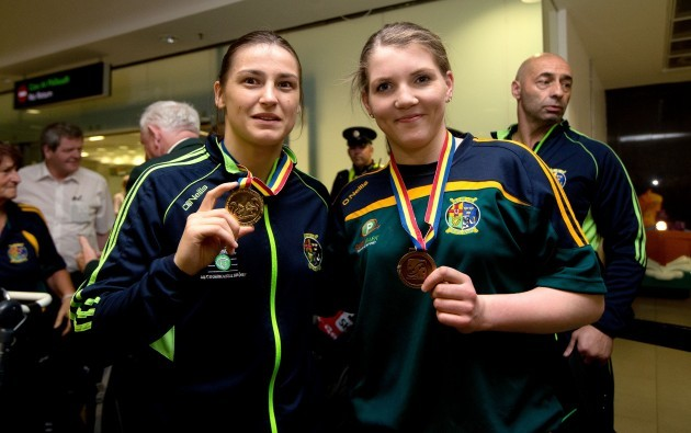 Katie Taylor and Clare Grace with their European Medals