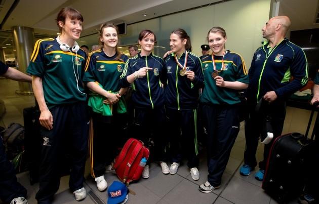 Ireland Women's Boxing Squad return home