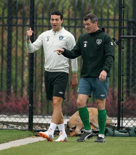 Stepehn Kelly with Roy Keane 9/6/2014