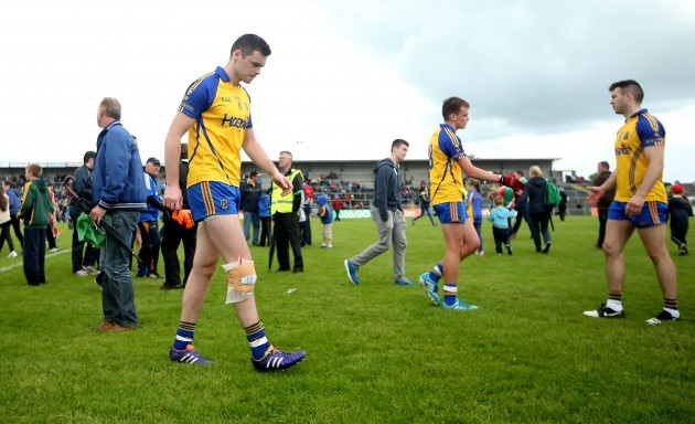Donie Shine leaves the field injured after the game