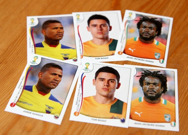 World Cup Sticker Collection Stock