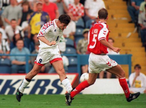 SOCCER - Euro 96 - Croatia v Denmark