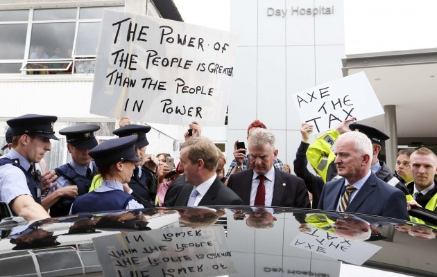Water Protesters - Taoiseach. Pictured