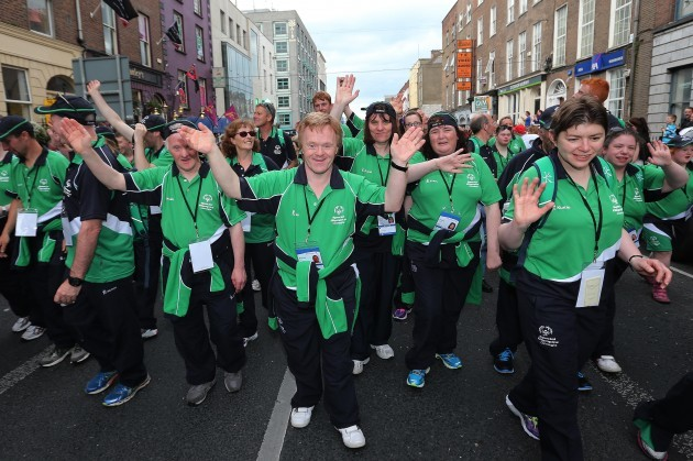 Connacht athletes in the parade