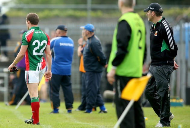 James Horan introduces Andy Moran as a second half substitute