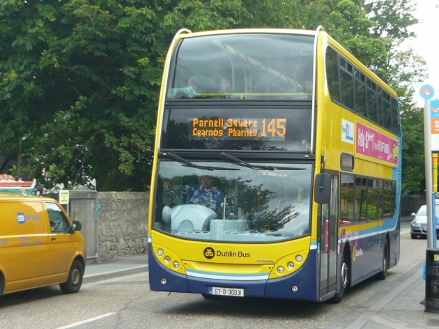 145 Bus on route