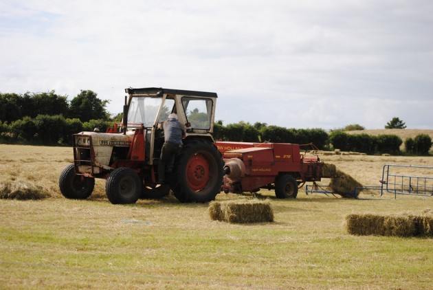 Hay Baling - Small Square Bales - Co. Meath Ireland - July 1st 2013