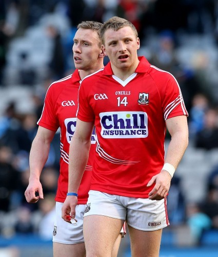 John Hayes and Brian Hurley dejected after the game