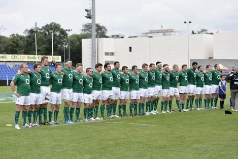 The Ireland team line up