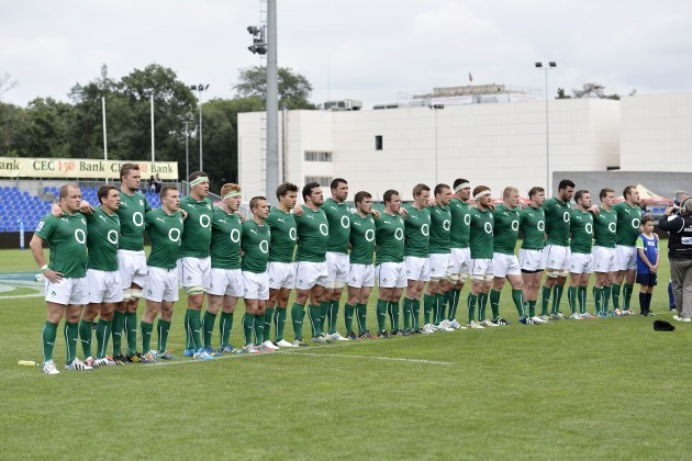 The Ireland team line up