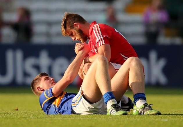 Eoin Cadogan consoles Steven O'Brien