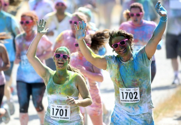 Rainbow Fun Run. Pictured runners part