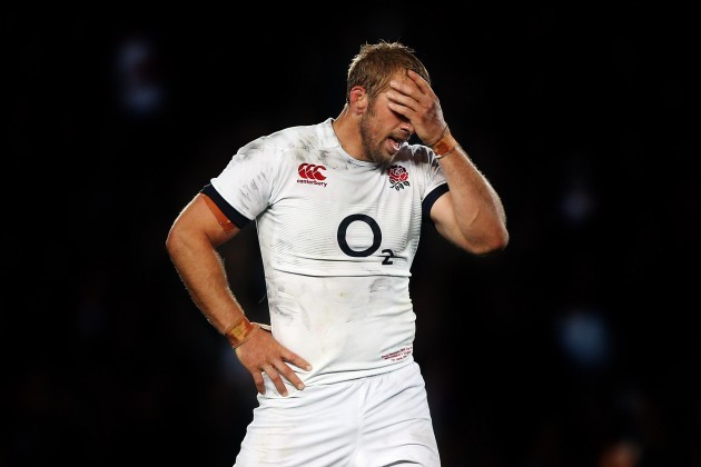 Chris Robshaw dejected after the game