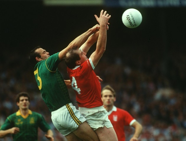 Mick Lyons of Meath and Christy Ryan of Cork 1987