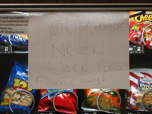 Vending Machine Sign.