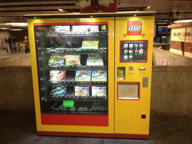 There exists a vending machine the Munich train station just for Legos - Imgur