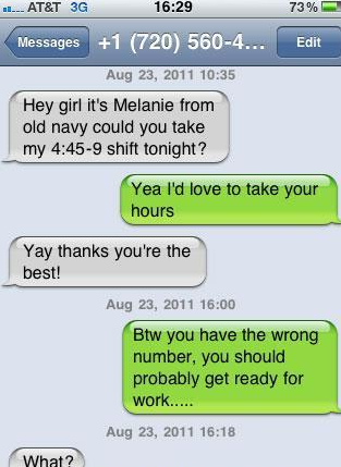 Interesting. You wrong number texts