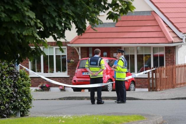 Bray death. Gardai at the scene where