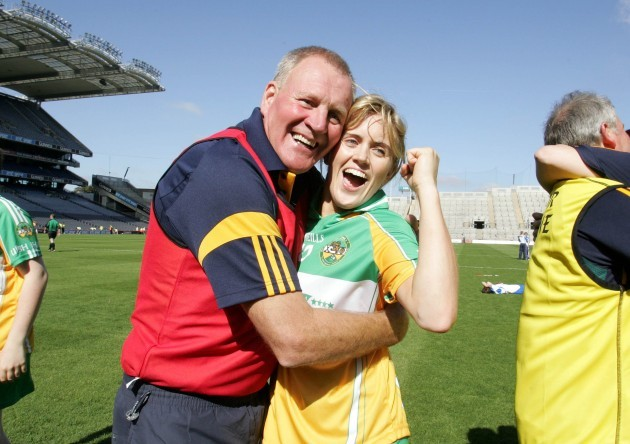 Joachim Kelly celebrates with his daughter Aoife