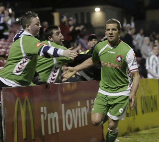 John O'Flynn celebrates scoring