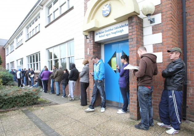File Pics The seasonally adjusted figure for the number of people on the Live Register has fallen below 400,000 for the first time since May 2009.