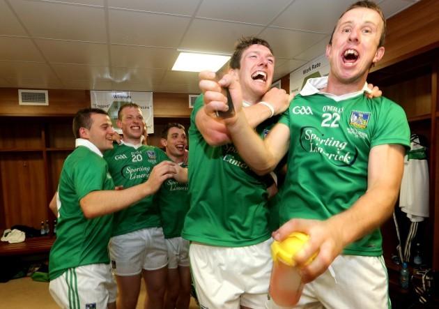 Seamus Hickey and Niall Moran celebrate