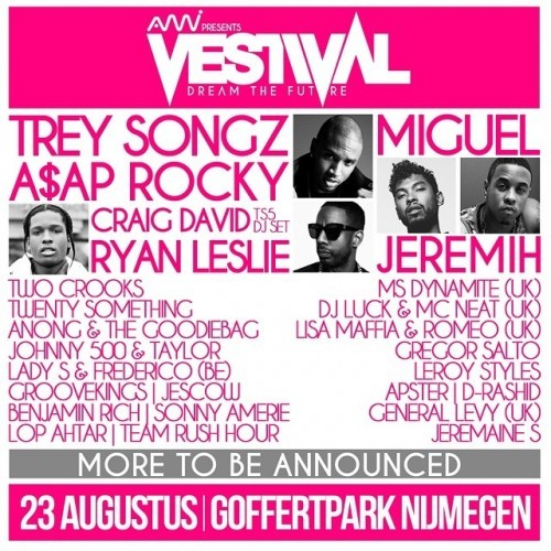 AMI Live presents Vestival August 23rd 2014 Goffertpark Nijmegen The Netherlands #treysongz #miguel #asaprocky #jeremih #ryanleslie and many more! #holland #festival #vestival