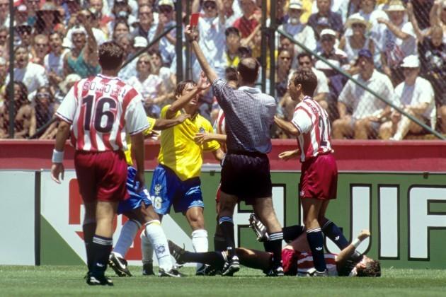 Soccer - World Cup USA 1994 - Second Round - USA v Brazil - Stanford Stadium
