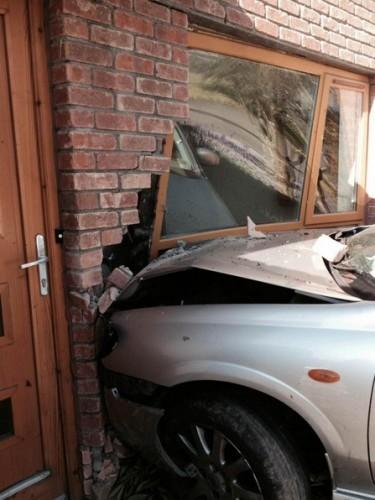 car crash wall finglas