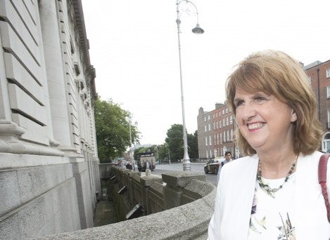 Tanaiste Joan Burton arrives at Governme