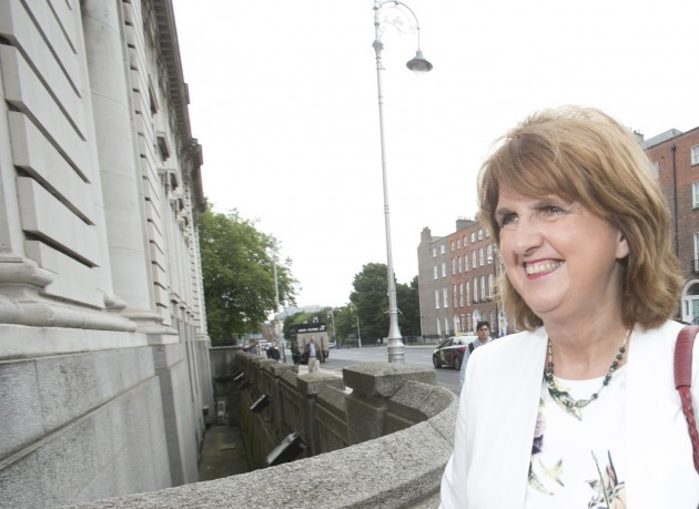 Tanaiste Joan Burton arrives at Governme