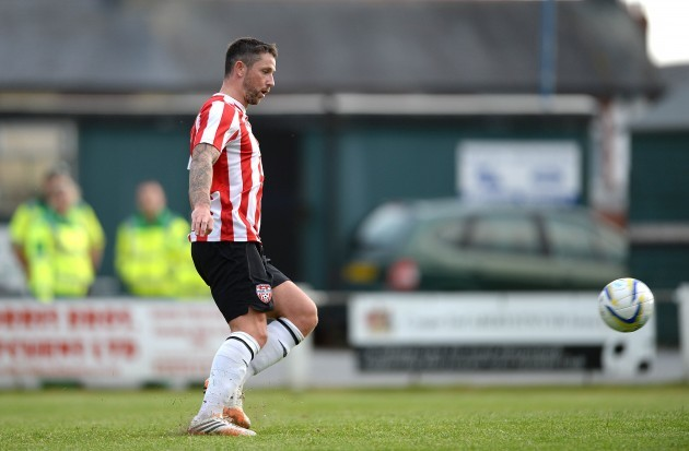 Rory Patterson scores the fifth goal from the penalty sport 10/7/2014