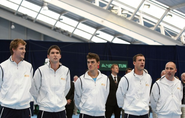 James Cluskey, Barry King, James McGee, Conor Niland and captain Gary Cahill