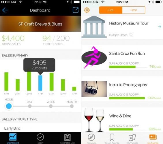 Eventbrite new app
