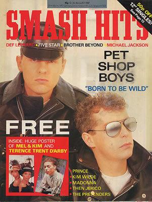 Pet Shop Boys - Smash Hits - August 1987 - MAGAZINE-340980