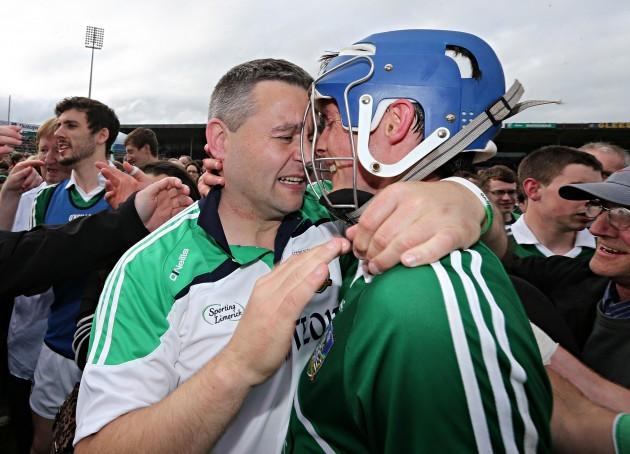 TJ Ryan celebrates with Gavin O'Mahony