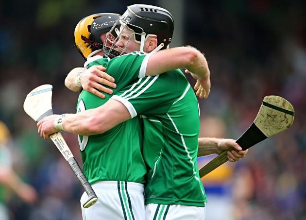 James Ryan and Wayne McNamara celebrate