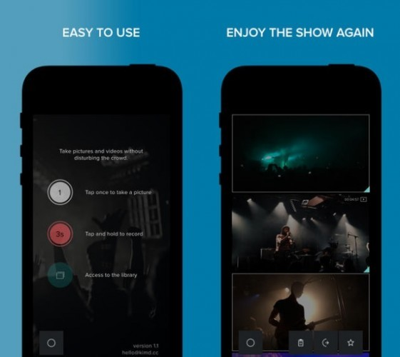 Camera gig app