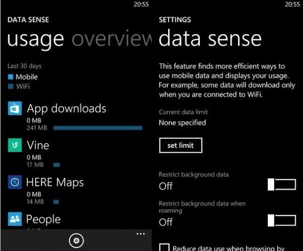 WP data sense