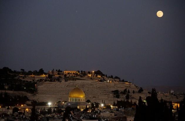 Mideast Israel Palestinians Supermoon