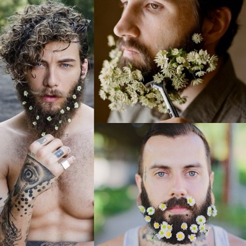 Lystring alla skäggiga hipsters! Det finns - enligt New York Magazine - en ny trend ni kan haka på: blomsterskägget. Seså, up your game