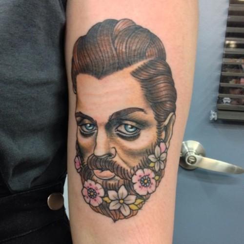 Thanks Codee! #beard #flowers #flowerbeard #tattoo