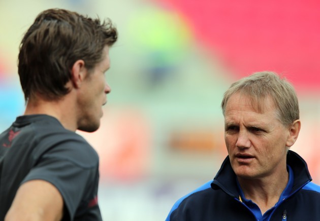 Simon Easterby with Joe Schmidt