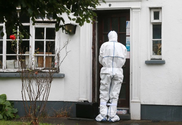 Rathfarnham death. Garda forensics at
