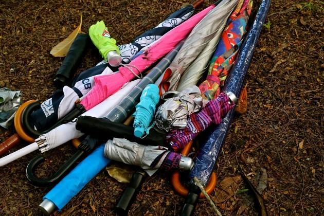 umbrella-pile