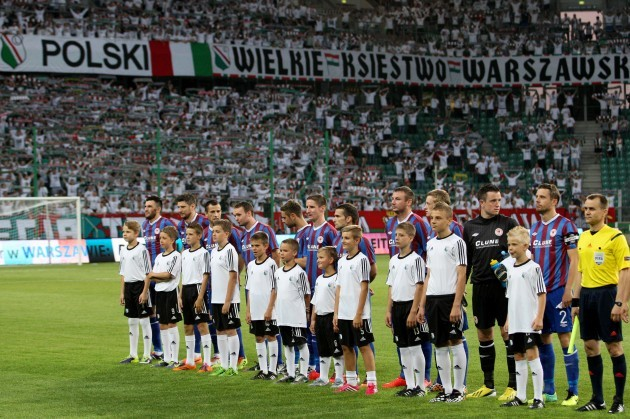 The St. Pat's players line up before the game 16/7/2014